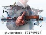 business logistics concept ... | Shutterstock . vector #571749517