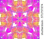melting colorful symmetrical... | Shutterstock . vector #571757374