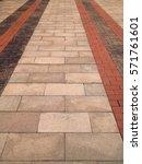 brick walk way background | Shutterstock . vector #571761601