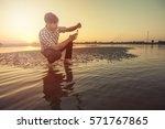 scientist or biologist working...   Shutterstock . vector #571767865