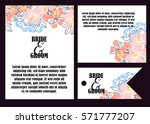 invitation with floral... | Shutterstock .eps vector #571777207