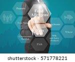 businesswoman showing... | Shutterstock . vector #571778221