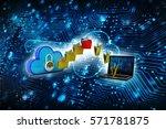 transferring information or... | Shutterstock . vector #571781875