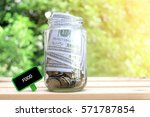 food words on blackboard with... | Shutterstock . vector #571787854