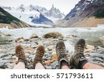 travel trekking leisure holiday ... | Shutterstock . vector #571793611