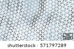 waving triangle polygon pattern ... | Shutterstock .eps vector #571797289