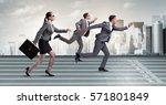 businesspeople running in...   Shutterstock . vector #571801849