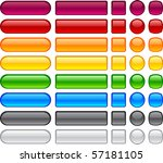 blank web glossy buttons.... | Shutterstock .eps vector #57181105