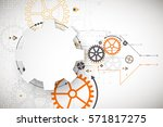 vector illustration  hi tech... | Shutterstock .eps vector #571817275