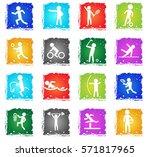 sport vector web icons in... | Shutterstock .eps vector #571817965