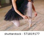 Young Ballerina In Black Dress...