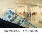 us dollar cash banknote in... | Shutterstock . vector #571823395