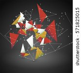 abstract geometric polygonal... | Shutterstock .eps vector #571825015