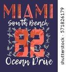 florida miami south beach...   Shutterstock .eps vector #571826179