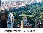 new york skyline and central... | Shutterstock . vector #571830511