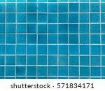 Blue Tiles On The Wall