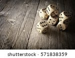 rolling the dice concept for... | Shutterstock . vector #571838359