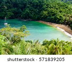 englishman's bay is a secluded... | Shutterstock . vector #571839205