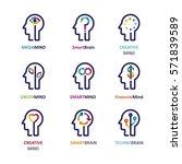 brain  creative mind  learning... | Shutterstock .eps vector #571839589
