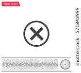 delete icon. cross sign in... | Shutterstock .eps vector #571843999