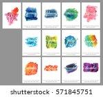 a scalable vector calendar for...   Shutterstock .eps vector #571845751