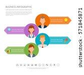 infographic people in job... | Shutterstock .eps vector #571845871