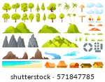 vector.  isolated cartoon... | Shutterstock .eps vector #571847785
