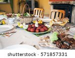Typical Easter  Village Table...