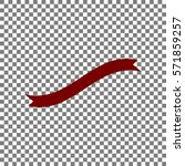 banner ribbon sign. maroon icon ...