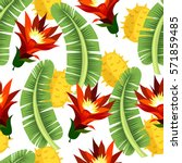 tropical seamless pattern with... | Shutterstock .eps vector #571859485