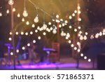 hanging decorative lights for a ... | Shutterstock . vector #571865371