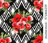 elegant seamless pattern with... | Shutterstock .eps vector #571866259