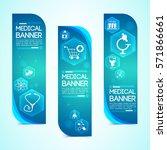 medical blue vertical banners... | Shutterstock .eps vector #571866661