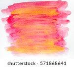 abstract hand painted... | Shutterstock . vector #571868641