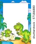 frame with tyrannosaurus rex  ... | Shutterstock . vector #57186880
