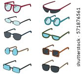 vector set of eyeglasses | Shutterstock .eps vector #571876561