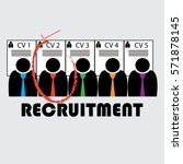 selecting a candidate and... | Shutterstock .eps vector #571878145