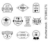 vintage tailor sewer badge... | Shutterstock .eps vector #571881271