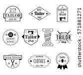 vintage tailor sewer badge... | Shutterstock .eps vector #571881271