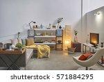 corner sofa loft concept  | Shutterstock . vector #571884295
