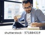 talented creative male... | Shutterstock . vector #571884319
