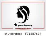 woman icon vector illustration... | Shutterstock .eps vector #571887634