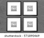 frames wall gallery on grunge... | Shutterstock .eps vector #571890469
