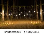 wedding ceremony evening with... | Shutterstock . vector #571890811