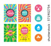 web banners and sale posters.... | Shutterstock .eps vector #571902754