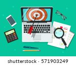 successful business target... | Shutterstock .eps vector #571903249