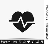 heart cardiology icon | Shutterstock .eps vector #571908961