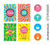 web banners and sale posters.... | Shutterstock .eps vector #571910035