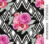 elegant seamless pattern with... | Shutterstock .eps vector #571910311
