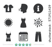clothes icons. t shirt with...   Shutterstock .eps vector #571911439